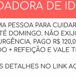 VAGA DISPONÍVEL PARA CUIDADOR DE IDOSO – Pagamento diário no valor de R$ 120,00!