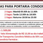 VAGAS DISPONÍVEL PARA TRABALHAR EM PORTARIA – A 05 VAGAS DE EMPREGO – Salário: R$ 1.500,00 + BENEFÍCIOS !