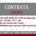 Contrata – se babá para trabalhar no Período de 6 horas de Segunda á Sexta. Salário R$1.575,00!