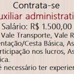 Vagas para Auxiliar administrativo, Não é necessário ter experiencia!