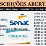 SENAC abre inscrições para os cursos gratuito – Veja como fazer sua inscrição abaixo e requisitos .