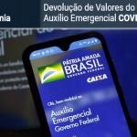 Beneficiários que não efetuarem a devolução do Auxílio recebido indevidamente, poderão responder pelo crime de ESTELIONATO contra o Poder Público