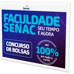 Faculdade Senac Inicia Inscrições para Concurso de Bolsas
