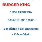 BURGER KING CONTRATA FUNCIONARIO (A) – VAGA PARA ATENDENTE